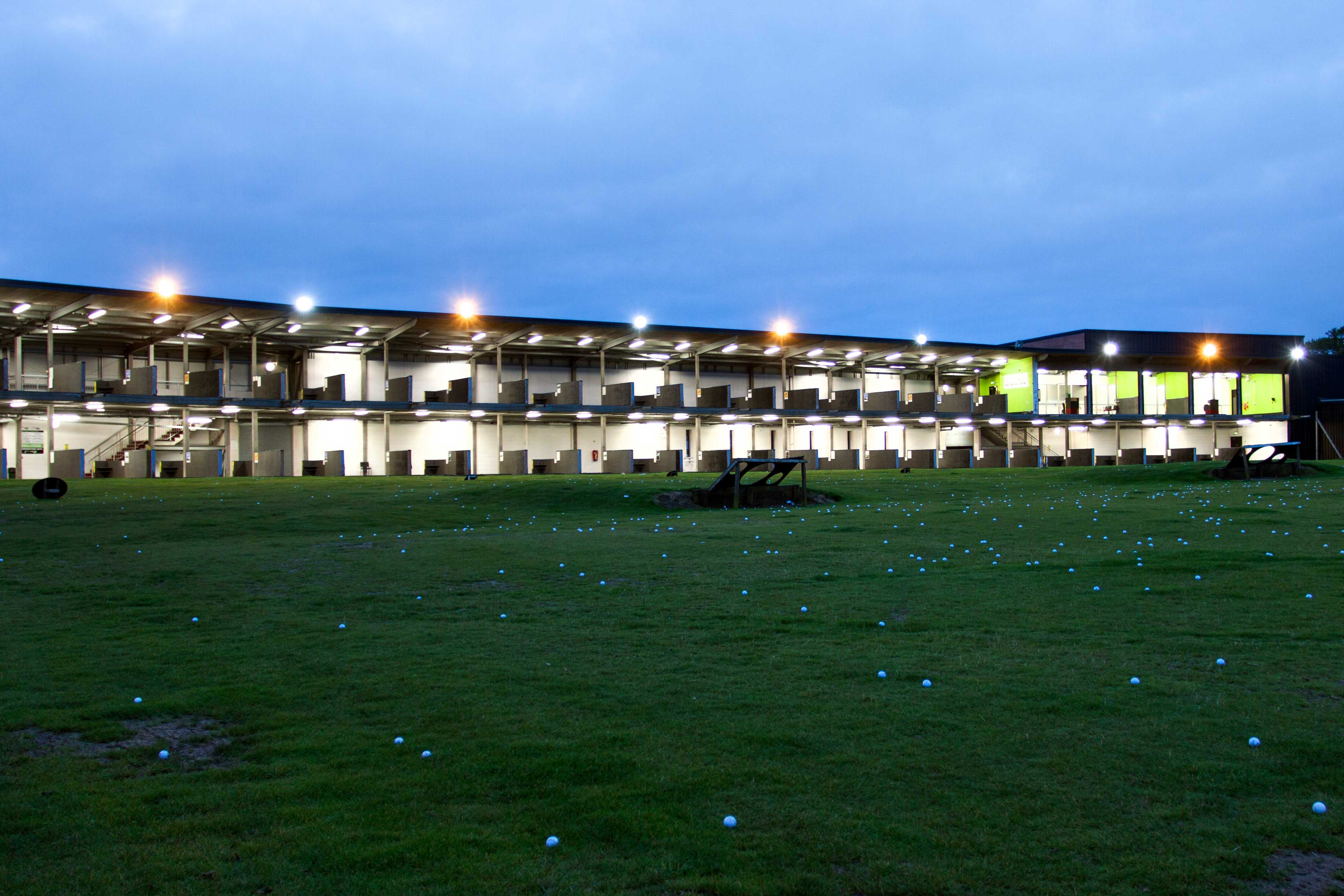 56 bay driving range at Playsport golf East Kilbride